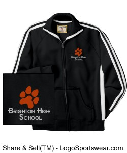 BHS Black with White Stripes Track Jacket Design Zoom