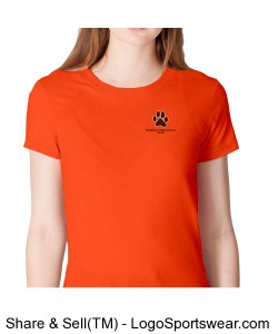 Orange Crew Neck American Apparel BHS Staff Tee Design Zoom